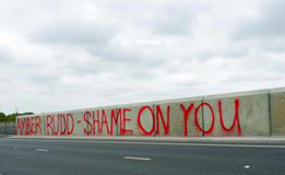 Graffiti: AMBER RUDD - SHAME ON YOU