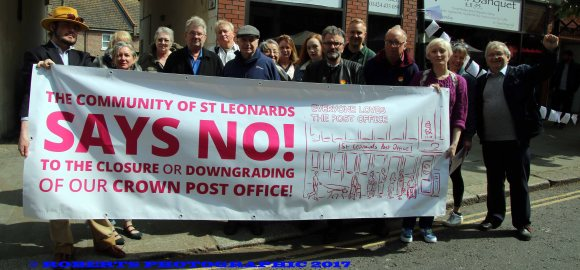 St Leonards 'save our PO' campaigners