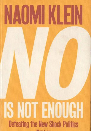 """No is not enough"" by Naomi Klein - book cover"