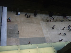 people in turbine hall