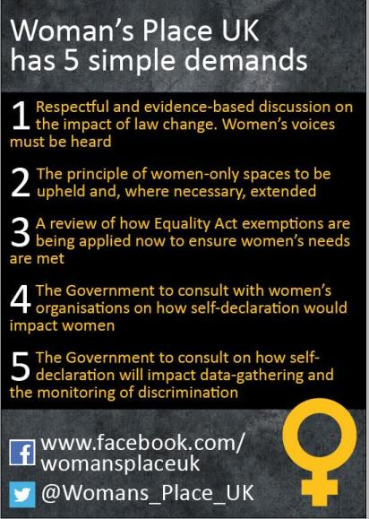 woman's place uk - 5 simple demands