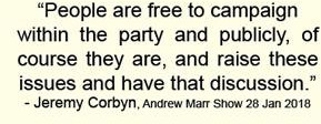Jeremy Corbyn on Andrew Marr, confirming women's right to campaign on this issue 'in the party and publicly'