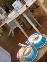 Booka café, including cappucino and scones