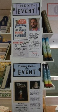 Booka event posters, including 'the magic of numbers'