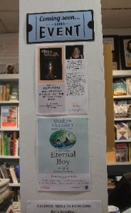 Booka event posters - including 'eternal boy'