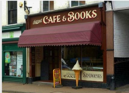 Llangollen bookshop cafe