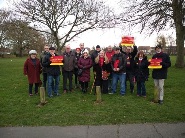 Hastings & Rye Labour members canvassing