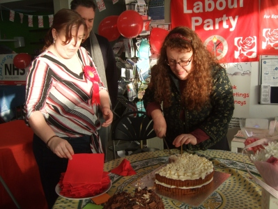 Eastbourne Labour Women's Forum Birthday cake