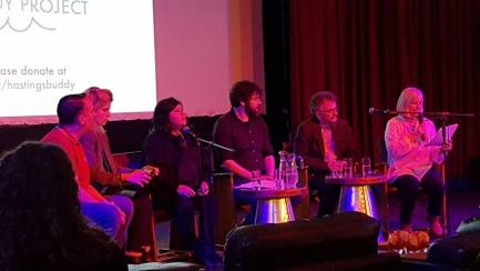 Panel discussion at Nae Parasan film showing
