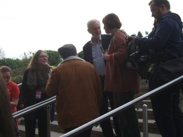 Jeremy Corbyn arrives at Women's Conference