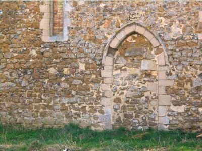 Bricked up north door at Ely