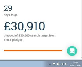 Crowdfunder day 1 £30k