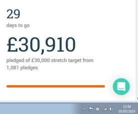 Crowdfunder day 1 £30k