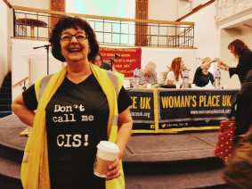 A WPUK organiser plus coffee