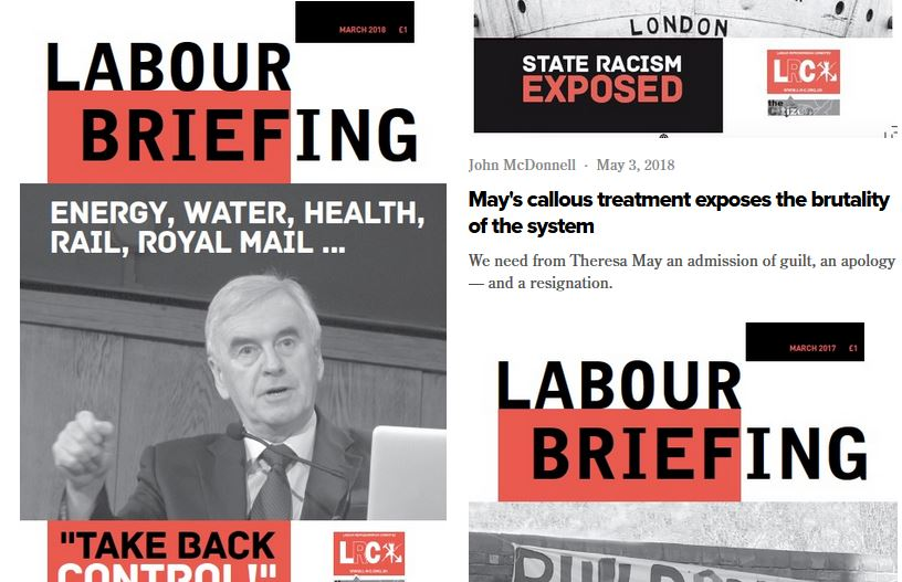 Patchwork of 'Labour Briefing' covers
