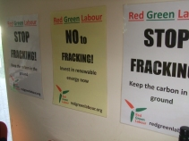 'No fracking' posters from redgreenlabour.org