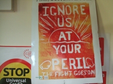 Poster: Ignore us at your peril