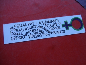 women's rights book marks