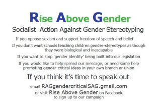 Rise Above Gender invitation link to the RAG docs follows