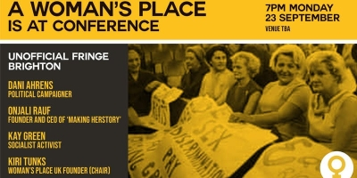 A woman's Place is at Conference: meeting invitation 23 September, 2019