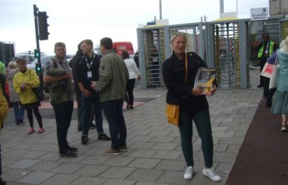 Woman's Place UK manifesto at conference gates
