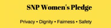 SNP women's pledge logo
