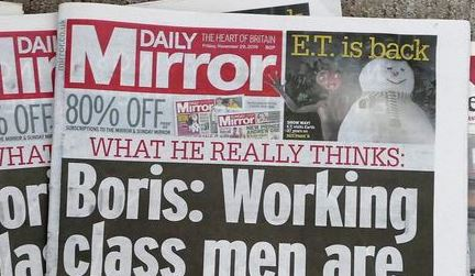 Daily Mirror header