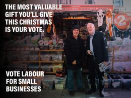 An election meme illustrated by Corbyn standing with a street trader