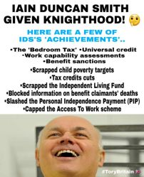 One of a million memes about the cruelties of Ian Duncan Smith