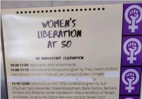 List of speakers with Selina Todd tippexed out