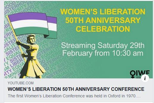 Screengrab: women's Liberation 50th Anniversary Celebration conference Live Stream
