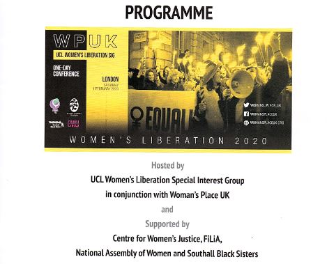WPUK/UCL Women's LIberation conference programme