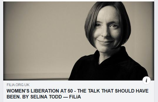 "Screen grab from FiLiA.org who published ""the talk that should have been by Selina Todd"