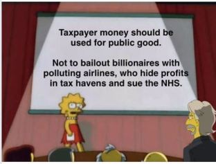 "Meme ""taxpayer money should be used for the public good"""