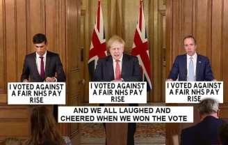 """""""We all voted against a fair NHS pay rise, and laughed and cheered when we won the vote"""""""
