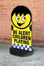 Be alert - children playing