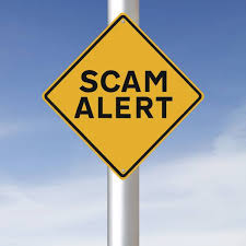 Warning sign: scam alert