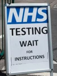 """NHS testing - wait for instructions'"