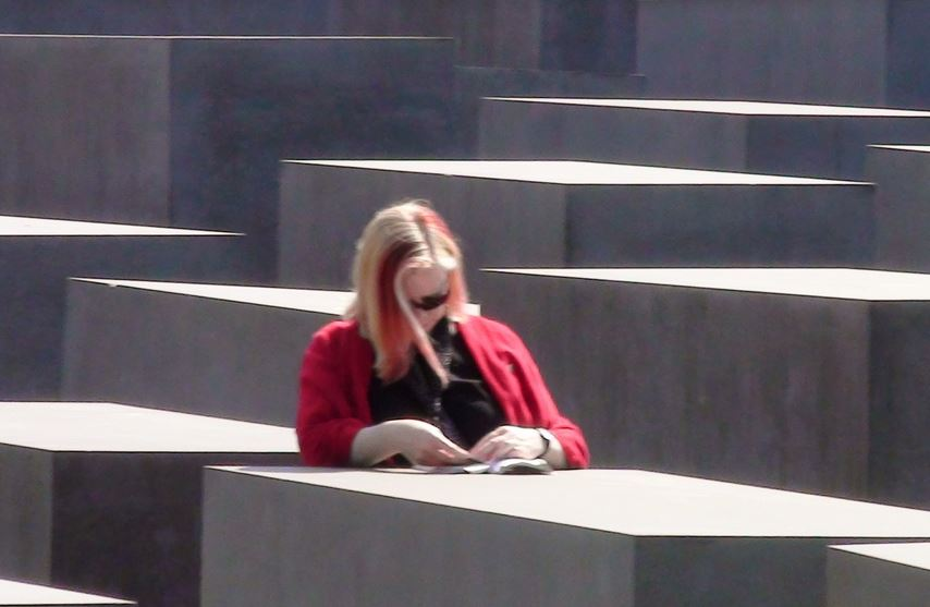 Lynne Walsh at the Holocaust Memorial, Berlin