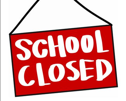 School closed sign